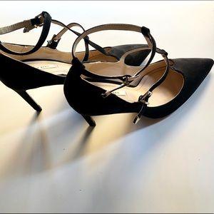 Zara suede high heels